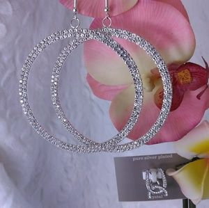 Genuine Crystal Hoop Earrings